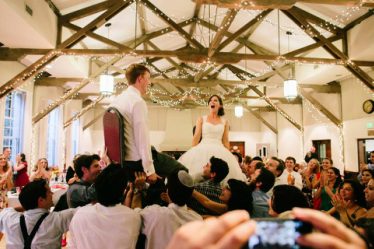 The Hora at Jewish Wedding